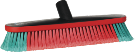 Vikan Vehicle Brush, Waterfed, 370 mm, Soft/split, Black